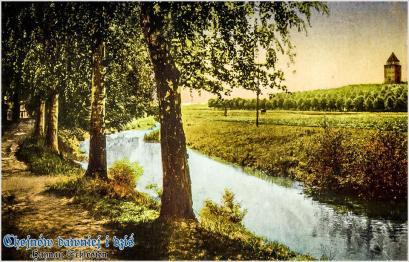Partie an der Deichsa, Ansichtskarte um 1910
