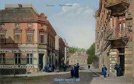 Poststrasse - Geschäfte 1912 Haynau